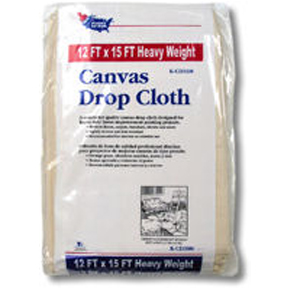 CANVAS DROP CLOTH 12' X 15' HEAVY WEIGHT