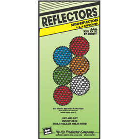 ASST MINI REFLECTORS (2 RED, 1  AMBER, 1 WHITE, 1 BLUE, 1