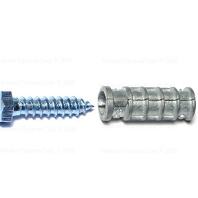 LAG SCREW SHIELD W/BOLT 3/8 S  COBEN (2 PER PACK)