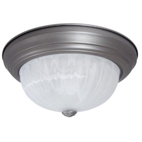 "11"" BRUSH NICKLE DOME LIGHT FIXTURE #04587"