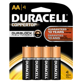 "DURACELL ""AA"" 4PK BATTERY"