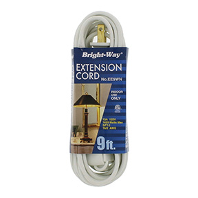 9' 16/2 WHITE EXTENSION CORD