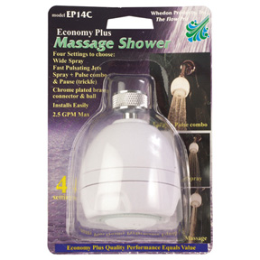 WHITE ECONOMY PLUS SHOWER HEAD WITH 3 SETTINGS