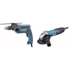 MAKITA HAMMER DRILL PLUS ANGLE GRINDER CORDED KIT