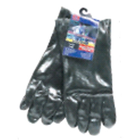 "18"" BLACK PVC RUBBER GLOVES"