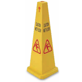 YELLOW FLOOR SAFETY CONE WET FLOOR