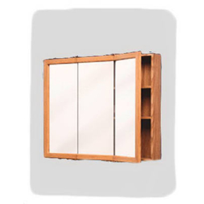 OAK TRI VIEW MEDICINE CABINET 24 X 25 SURFACE MOUNT