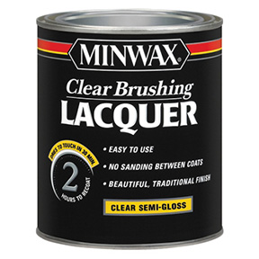 MINWAX QT CLEAR S/G BRUSHING LACQUER