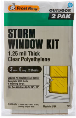 3' X 6' 2/PK STORM WINDOW KIT