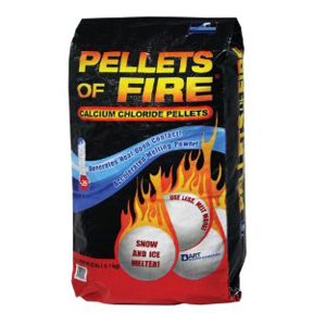 50lb. CALCIUM CHLORIDE PELLETS OF FIRE