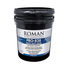 ROMAN PRO838 5 GAL CLEAR H/D  WALL ADHESIVE