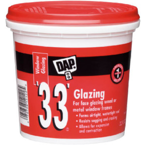 QT. DAP 33 GLAZING PUTTY