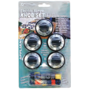 5 PK. STOVE KNOBS-BLACK