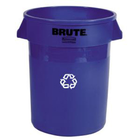 32 GAL BLUE RECYCLE BRUTE CAN
