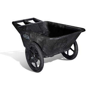 RUBBERMAID 5642-00 BLACK BIG WHEEL CART 300LB CAPACITY