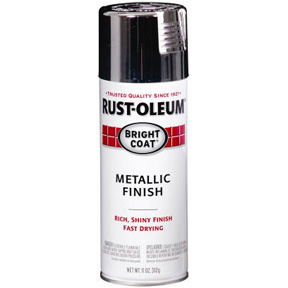 11OZ RUSTOLEUM CHROME METALLIC FINISH SPRAY PAINT