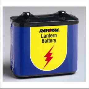 6 VOLT OBLONG LANTERN BATTERY BRIGHT STAR #158