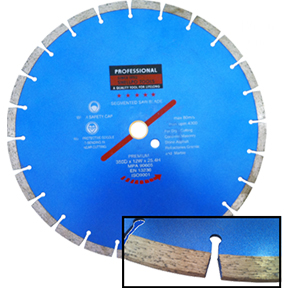 "14""X 1""SEGMENTED DIAMOND BLADE"