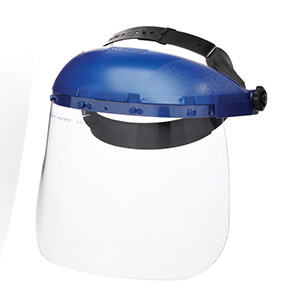 FACE SHIELD 390 CLEAR LENS  BLUE VISOR OSHA APPROVED