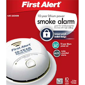 SMOKE & FIRE ALARM WITH 10YR TAMPERPROOF LITHIUM BATTERY
