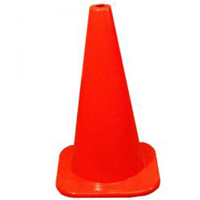 "28"" ORANGE PLASTIC SAFETY CONE"