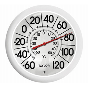 "TAYLOR 8.5"" OUTDOOR DIAL THERMOMETER"
