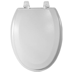 ELONGATED TOILET SEAT CLOSED FRONT