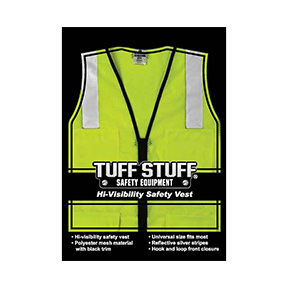 ANSI CLASS 2 FLUORESCENT LIME MESH SAFETY VEST-LG/XL