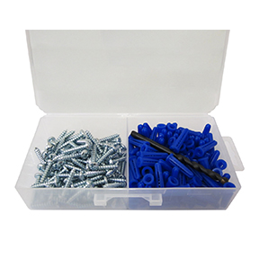 10-12 CONICAL ANCHOR KIT-100PK WITH 1/4 MASONRY BIT