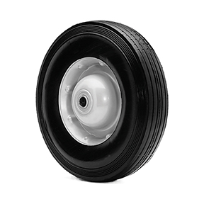 SOLID RUBBER REPLACEMENT WHEEL 10X4-5/8 BB 2-1/4 HUB-300lb