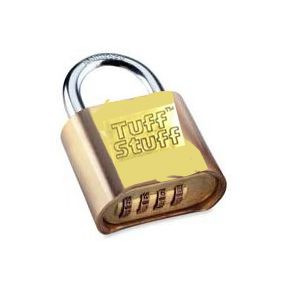 "RESETTABLE PADLOCK 2"" BRASS (4 DIAL COMBINATION)"