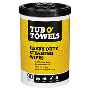 90CT TUB-O-TOWELS CLEANING WIPES