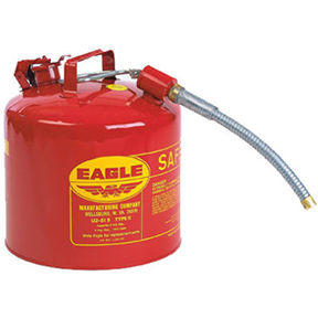 5 GAL TYPE II GALVANIZED STEEL SAFETY GAS CAN W/1""