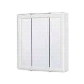 WHITE WOOD TRI VIEW SURFACE MOUNT 24 X 25 MEDICINE
