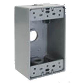WATERPROOF OUTLET BOX  3/4 KO