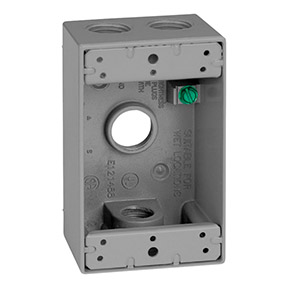 "1 GANG 1/2"" 4 HOLE  WEATHERPROOF BOX"