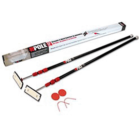 "ZIPWALL 2pk SPRING LOADED POLES 4'7""-10'"