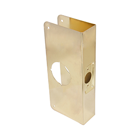 "WRAP AROUND PLATE,2-1/8 HOLE, 4X9"", 2-3/8 BS, 1-3/4 DOOR"